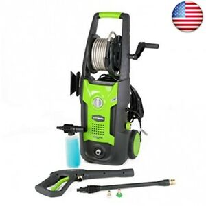 Greenworks 1700 Psi 13 Amp 1 2 Gpm Pressure Washer With Hose Reel Gpw 1700 Psi