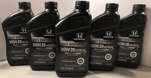Genuine Honda Sae 0w 20 Full Synthetic Sn Plus Engine Motor Oil 5 Qts
