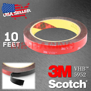Genuine 3m Vhb 5952 Double Sided Mounting Foam Tape Automotive Car 15mm X 10ft