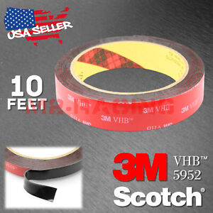 Genuine 3m Vhb 5952 Double Sided Mounting Foam Tape Automotive Car 20mm X 10ft