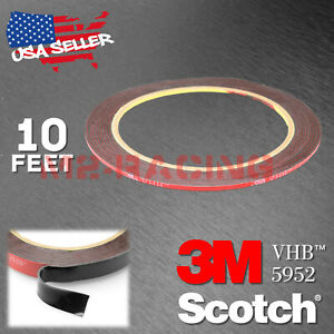 Genuine 3m Vhb 5952 Double Sided Mounting Foam Tape Automotive Car 2mm X 10ft