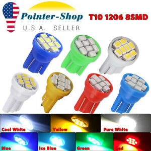 Wholesale T10 1206 8 smd Led Dome Map License Plate Instrument Panel Light Bulbs