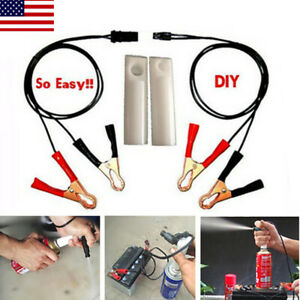 Us New Car Auto Vehicles Tools Universal Fuel Injector Flush Cleaner Adapter Kit