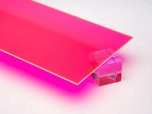 Acrylic Pink red Fluorescent Plexiglass 1 8 X 24 X 48 Sheet 9093
