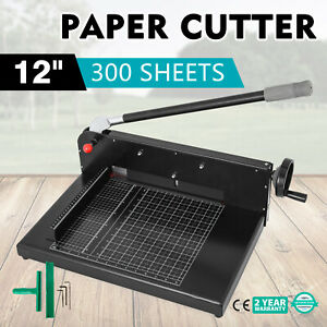 12 Width Guillotine Paper Cutter Heavy Duty Stack Paper Trimmer Great