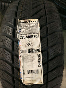 4 New 275 40 20 Goodyear Ultra Grip Suv 4x4 Snow Tires