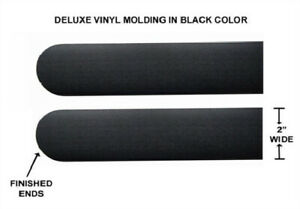 Universal Peel And Stick Black 2 Wide Body Side Trim Moldings For Car Suv
