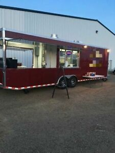 Turnkey Ready 2016 32 Bbq Concession Trailer With Porch Barbecue Rig For Sa