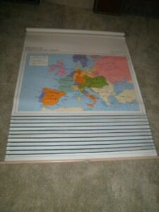 Rand Mcnally 12 Map Pull Down Set World History Home Charter School Markable