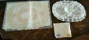 Lot Of 12 Vintage Doilies Nottingham Lace Doilies British Made 6 Coasters Nip