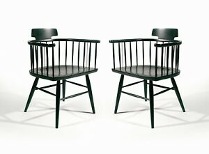 Pair Mid Century Modern Chairs By Kipp Stewart For Drexel