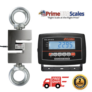 Optima Scale Op 926 1 800 Lb X 0 2 Lb Hanging S hook Crane Scale With Indicator