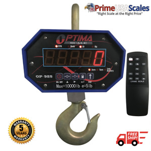Optima Scales Op 925a 10 000 Heavy Duty Crane Scale Bright Led Display Remote