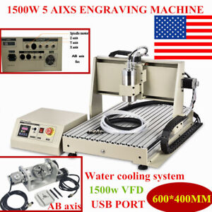 5axis Engraver 6040 Cnc Router Engraving Machine Metal Carving Ball Screw Er11 a