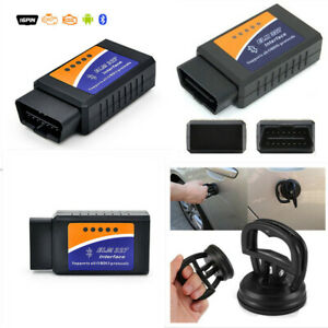 Elm327 Bluetooth Interface Obdii Obd2 Diagnostic Car Scanner Scan Suction Cup