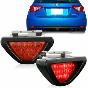 Universal F1 Style 12 Red Led Triangle Rear Stop Tail 3rd Brake Light