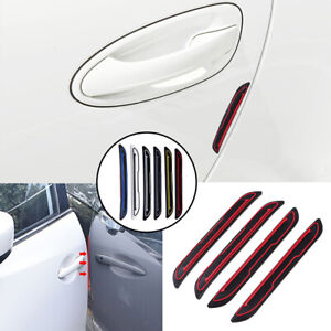 4pcs Set Red Car Door Edge Guard Strip Scratch Protector Anti Collision Trim