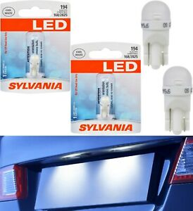 Sylvania Led Light 194 T10 White 6000k Two Bulbs License Plate Replace Oe Fit