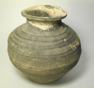Ancient Chinese Western Han Dynasty C 206 Bc 9 Ad Tomb Offering Burial Jar