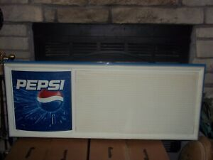 Pepsi cola Menu Board Sign W 2 Sets Of New 1 Pepsi Blue Letters