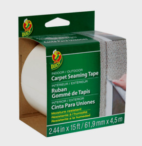 Duck White Carpet Tape In outdoor Moisture Resistant 2 44 W X 15 Ft L 286519