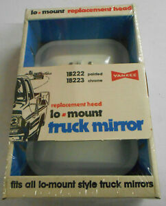 Yankee Vintage Truck Mirror New White Universal Lo Mount Nos Made In Usa