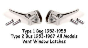 Vw Type 1 2 Bug 1952 1955 1953 1967 Bus Vent Wing Latches Show Car Quality