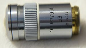 Leitz Wetzlar Germany Ef 100 1 25 160 0 17 Microscope Objective Lens Great