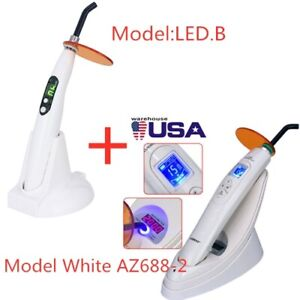 Dental Led Lamp Curing Light Wireless 2000mw With White Light Meter Led b Usa