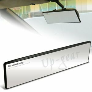 Universal Broadway 270mm Wide Flat Interior Clip On Rear View Clear Mirror