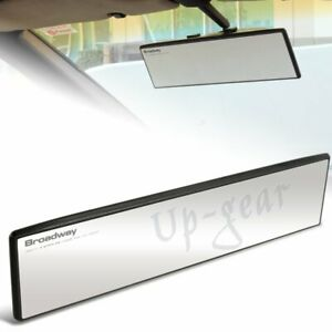 Universal Broadway 300mm Wide Flat Interior Clip On Rear View Clear Mirror