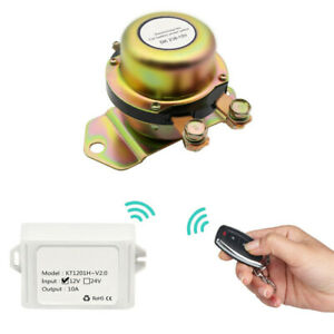Car Battery Switch Master Kill Wireless Remote Control Disconnect Latching Relay