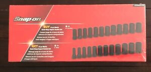 Snap On 1 2 And 3 8 Metric Semi Deep Impact Socket Set Brand New In Plastic