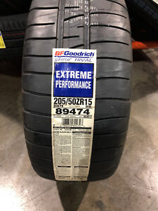 2 New 205 50 15 Bfgoodrich G force Rival Extreme Performance Tires