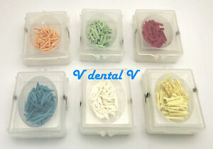 600pcs Dental Disposable Wooden Wedges Dental Supply Fixing Restoration 6 Sizes