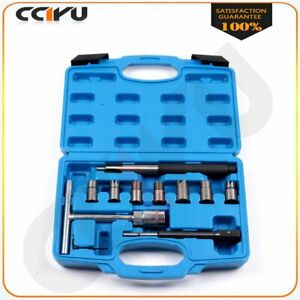 Diesel Injector Seat Cutter Set With Pilothex Hex Key Flat Reamer 10 Pcs