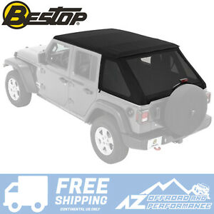 Bestop Trektop Nx Soft Top Black Diamond For 18 20 Jeep Wrangler Jlu 4 D