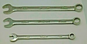 Snap on Tools Set Of 3 Metric 12 point Soexm Flank Drive 11mm 15mm 17mm