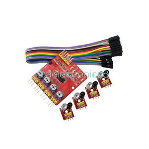 4 Channel Infrared Detector Tracked Photoelectricity Sensor For Smart Car Ca