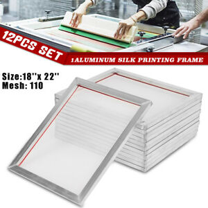 12 Pack 18 X22 Aluminum Silk Screen Printing 110 Mesh Press Frame Screens