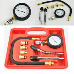 Pro Petrol Engine Compression Tester Test Gauge Kit For Car Motorcycle