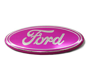 9 For Ford F150 Pink Silver Front Grille Tailgate Emblem Oval Badge Nameplate