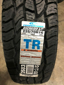 1 New 225 70 16 Cooper Discoverer A t3 Tire