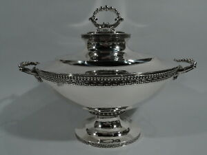 Tiffany Tureen 472 Early Antique Greek Revival American Sterling Silver
