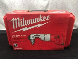 Milwaukee 3107 6 7 Amp Corded 1 2 Right angle Drill W Hard Case ud9001825