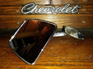 Vtg 1970 S Chevrolet Gm Door Side Mirror 9826594 Driver Quality Car Or Truck