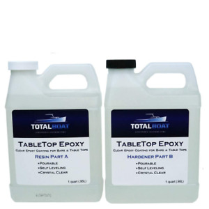 Totalboat Table Top Epoxy Resin Gallon Kit Crystal Clear Coating For Bars