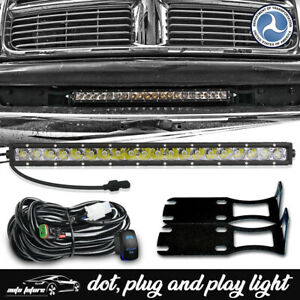 For Dodge Ram 2500 3500 2004 2018 20 Led Light Bar Front Lower Bumper Brackets