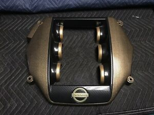 Custom Gold Gray Carbon Fiber Engine Cover Nissan Gtr R35 Gt R