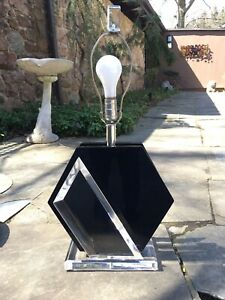 Rare Van Teal Mid Century Modern Smoked Lucite Table Lamp Springer Eames Knoll